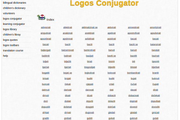 Free Online Croatian Verb Conjugation and Learning Conjugator