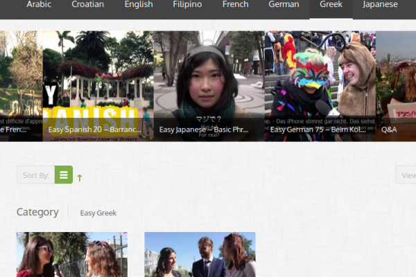 """Free """"Real Life"""" Greek Language Learning Videos with Bilingual Subtitles (English and Greek)"""