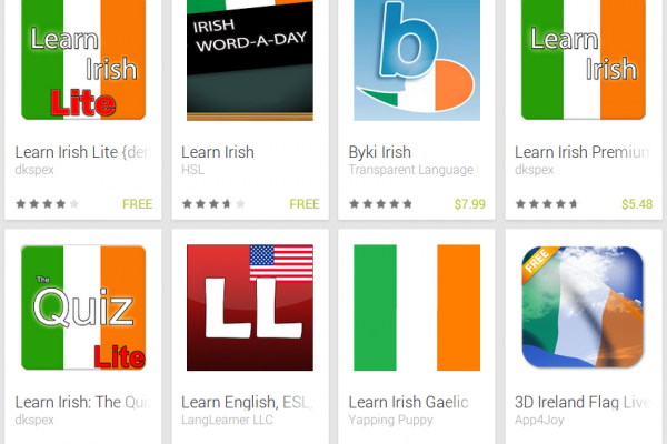 Learn Irish with Android Apps