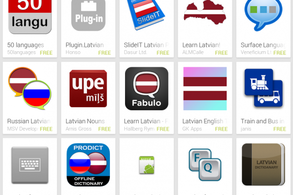 Learn Latvian with Android Apps