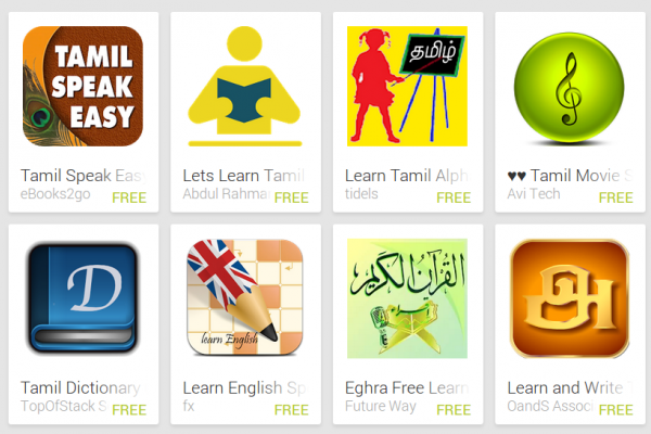 Learn Tamil with Android Apps