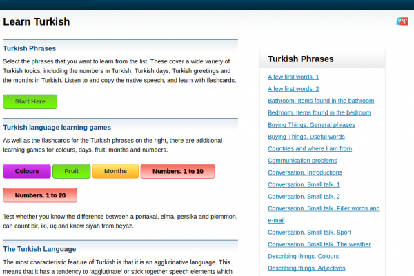 Free Turkish Audio Phrasebook, Games and Mobile Apps (Android, iOS) to Learn Basic Turkish for Travel and Living
