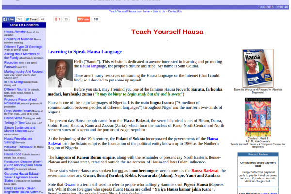 Learn Total Beginner Hausa Online for Free: Alphabet, Greetings, Basic Phrases, Food and More